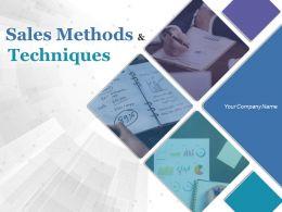 Sales Methods And Techniques Powerpoint Presentation Slides