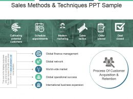 Sales Methods And Techniques Ppt Sample