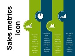 Sales Metrics Icon Ppt Background
