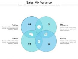 Sales Mix Variance Ppt Powerpoint Presentation Summary Gridlines Cpb