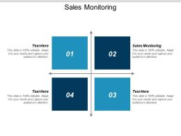 Sales Monitoring Ppt Powerpoint Presentation Icon Topics Cpb