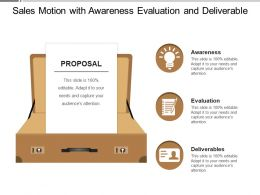 Sales Motion With Awareness Evaluation And Deliverable