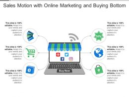 Sales Motion With Online Marketing And Buying Bottom