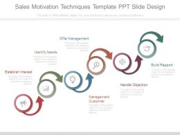 Sales Motivation Techniques Template Ppt Slide Design