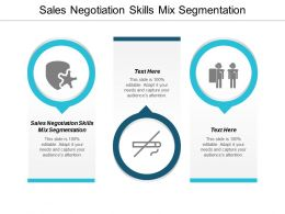 Sales Negotiation Skills Mix Segmentation Ppt Powerpoint Presentation Pictures Slides Cpb