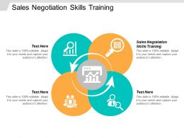 Sales Negotiation Skills Training Ppt Powerpoint Presentation Icon Shapes Cpb