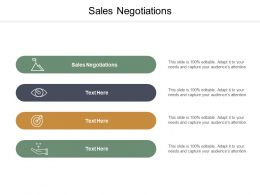 Sales Negotiations Ppt Powerpoint Presentation File Aids Cpb