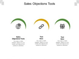Sales Objections Tools Ppt Powerpoint Presentation Icon Background Designs Cpb