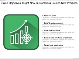 Sales Objectives Target New Customers And Launch New Products