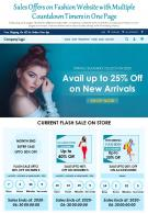 Sales Offers On Fashion Website With Multiple Countdown Timers In One Page Report Infographic PPT PDF Document