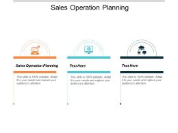 Sales Operation Planning Ppt Powerpoint Presentation Inspiration Slide Download Cpb