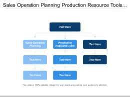 Sales Operation Planning Production Resource Tools Public Health