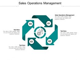 Sales Operations Management Ppt Powerpoint Presentation Professional Background Cpb