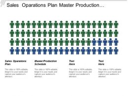 Sales Operations Plan Master Production Schedule Master Planning