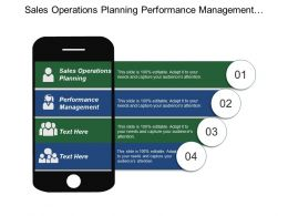 Sales Operations Planning Performance Management Competing Technology Development