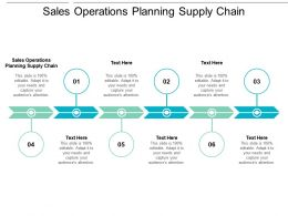 Sales Operations Planning Supply Chain Ppt Powerpoint Presentation Summary Diagrams Cpb