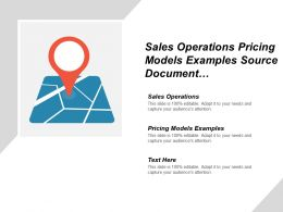 Sales Operations Pricing Models Examples Source Document Management Cpb