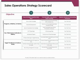 Sales Operations Strategy Scorecard Key Performance Ppt Powerpoint Guidelines