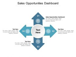 Sales Opportunities Dashboard Ppt Powerpoint Presentation Show Shapes Cpb
