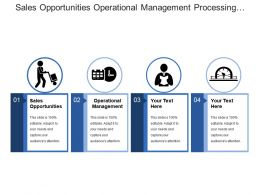 Sales Opportunities Operational Management Processing Orders Providing Customer