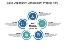Sales Opportunity Management Process Flow Ppt Powerpoint Slides Cpb
