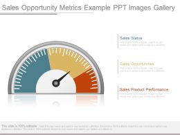 Sales Opportunity Metrics Example Ppt Images Gallery