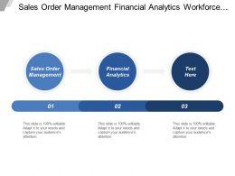 Sales Order Management Financial Analytics Workforce Analysis Corporate Service