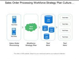 Sales Order Processing Workforce Strategy Plan Culture Leadership