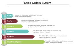 Sales Orders System Ppt Powerpoint Presentation Gallery Example Introduction Cpb