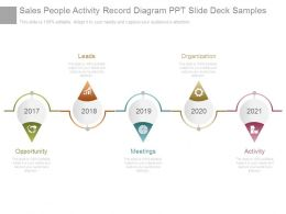 Sales People Activity Record Diagram Ppt Slide Deck Samples