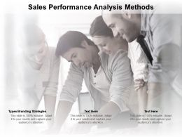 Sales Performance Analysis Methods Ppt Powerpoint Presentation Infographics Guidelines Cpb