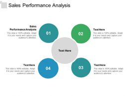 Sales Performance Analysis Ppt Powerpoint Presentation File Ideas Cpb