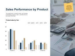 Sales Performance By Product Ppt Powerpoint Presentation Outline Introduction