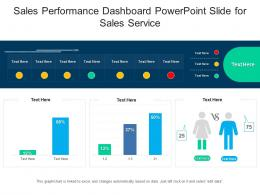 Sales Performance Dashboard Powerpoint Slide For Sales Service