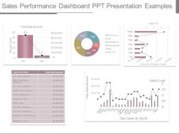 Sales Performance Dashboard Ppt Presentation Examples