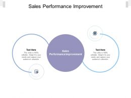 Sales Performance Improvement Ppt Powerpoint Presentation Infographic Template Cpb