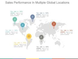Sales Performance In Multiple Global Locations Ppt Sample