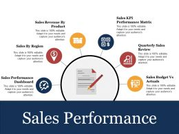 Sales Performance Ppt Presentation Examples