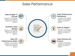 Sales Performance Ppt Visual Aids Files