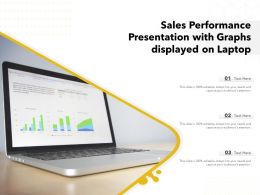 Sales Performance Presentation With Graphs Displayed On Laptop