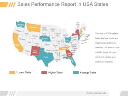 Sales Performance Report In Usa States Ppt Sample