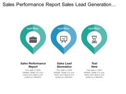 Sales Performance Report Sales Lead Generation Channel Marketing Cpb