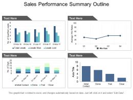Sales Performance Summary Outline Ppt Slides Download