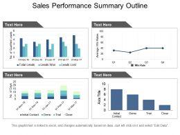 Sales Performance Summary Outline Ppt Slides Download