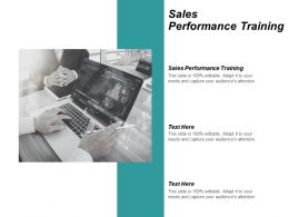 Sales Performance Training Ppt Powerpoint Presentation Summary Graphic Tips Cpb