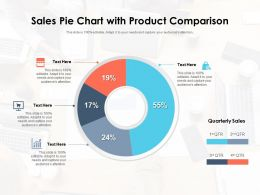 Sales Pie Chart With Product Comparison