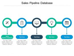 Sales Pipeline Database Ppt Powerpoint Presentation Icon Portfolio Cpb