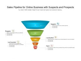 Sales Pipeline For Online Business With Suspects And Prospects