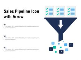 Sales Pipeline Icon With Arrow