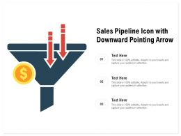 Sales Pipeline Icon With Downward Pointing Arrow